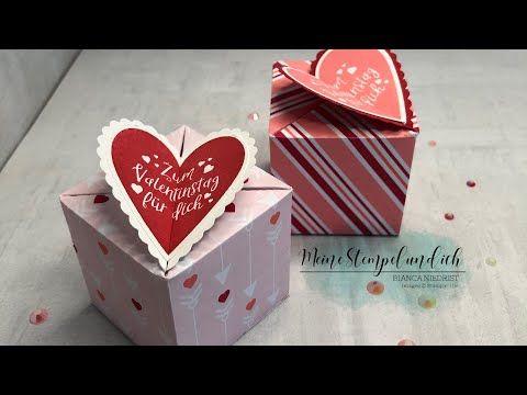 Anleitung Selbstschließende Box mit Herz