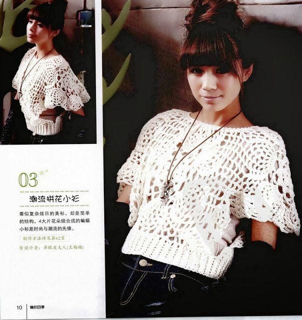 Jersey Manga Japonesa Patron - Patrones Crochet | Tejido | Pinterest