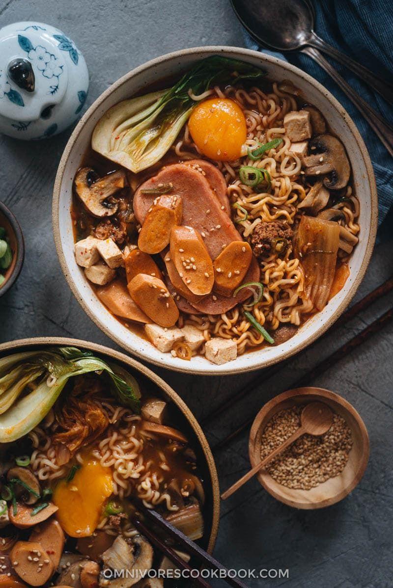 Korean Army Stew Budae Jjigae Omnivore S Cookbook In 2020 Army Stew Omnivore Savoury Food