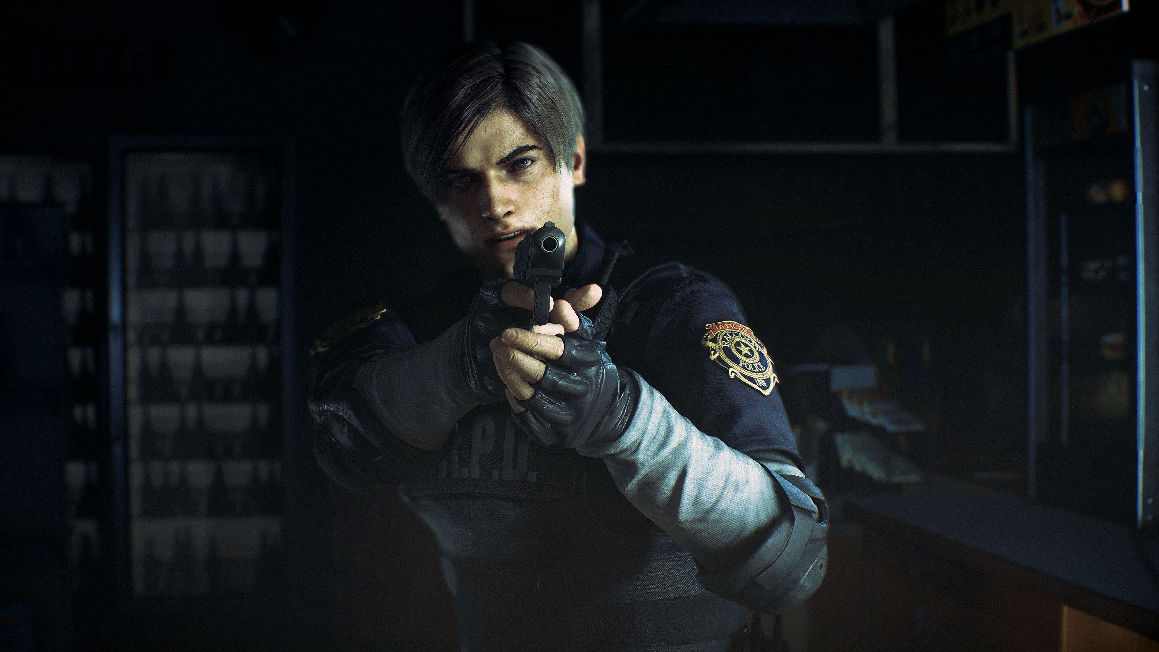 Leon Kennedy Resident Evil 2 4k Resident Evil 2 Wallpapers Leon Kennedy Wallpapers Hd Wallpapers Games Resident Evil Leon Resident Evil Game Leon S Kennedy