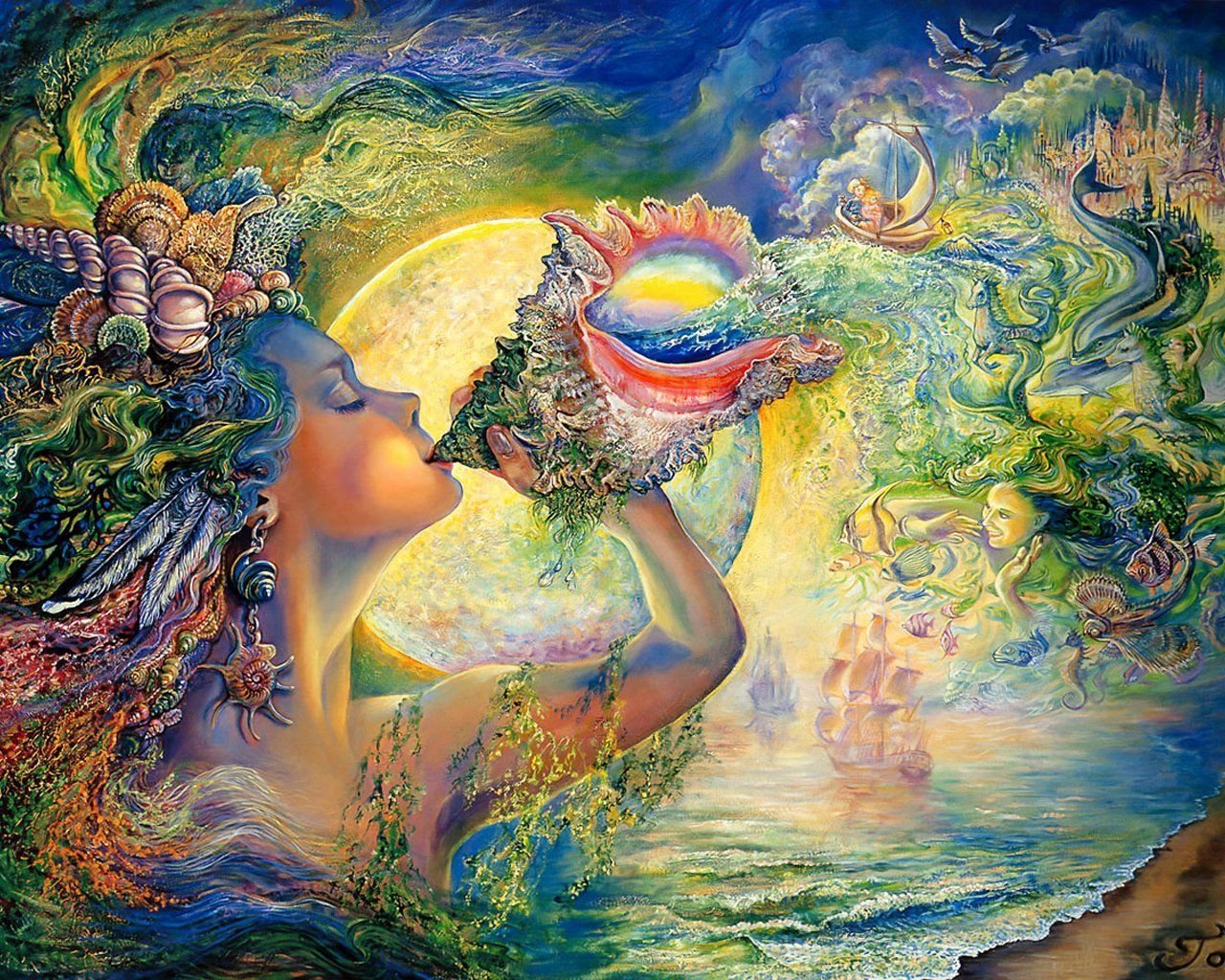 Josephine Wall call of the sea