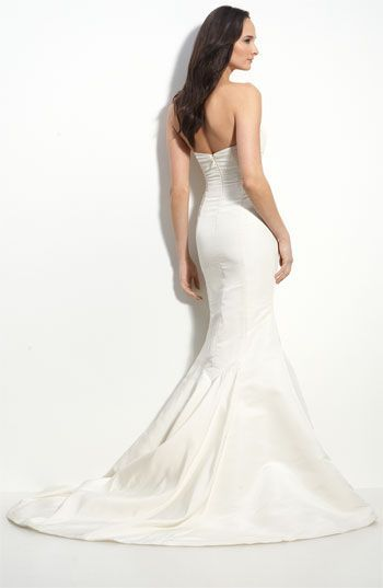 back of nicole miller faille trumpet gown   Wedding Dresses ...