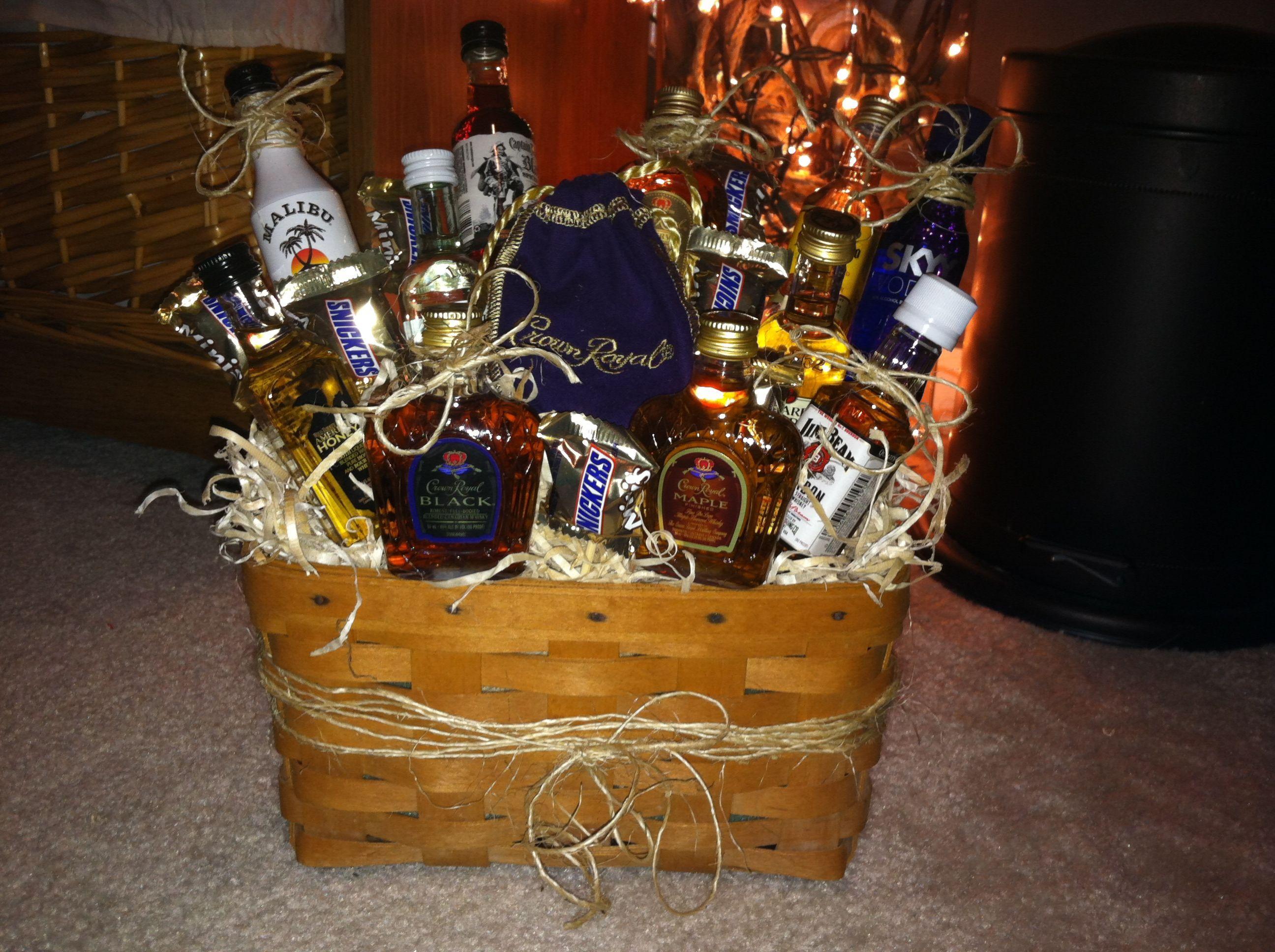 Mini Liquor Bottle Bouquet For My Boyfriend Birthday Baskets For Him Mini Liquor Bottles