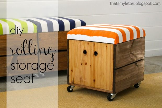 How To Build A Rolling Storage Seat Diy Pinterest