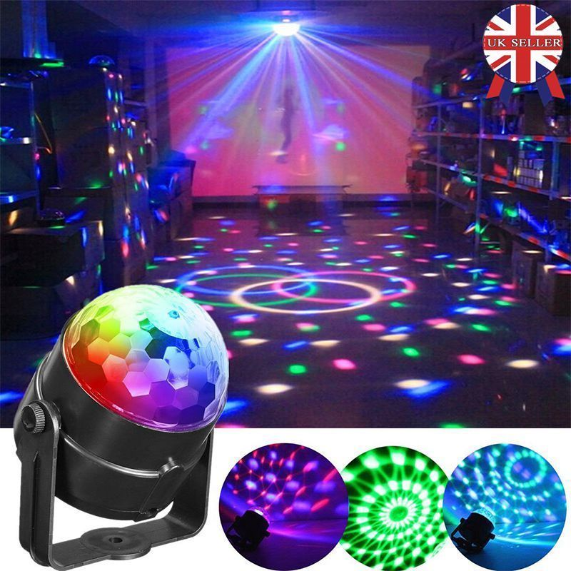 Disco DJ Stage Light Club Party Crystal Ball Effect RGB