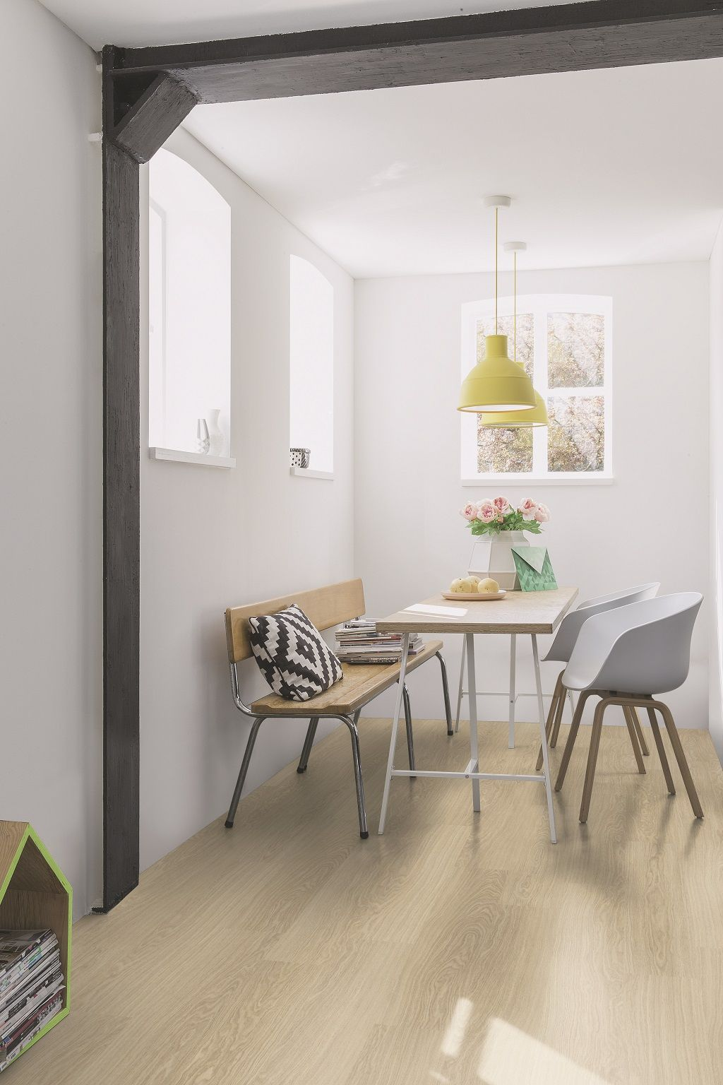 Quick Step Laminate Flooring   Classic U0027Victoria Oaku0027 (CLM3185) In A Trendy  Dining Room. To Find More Dining Room Inspiration, Visit Our Website: ...