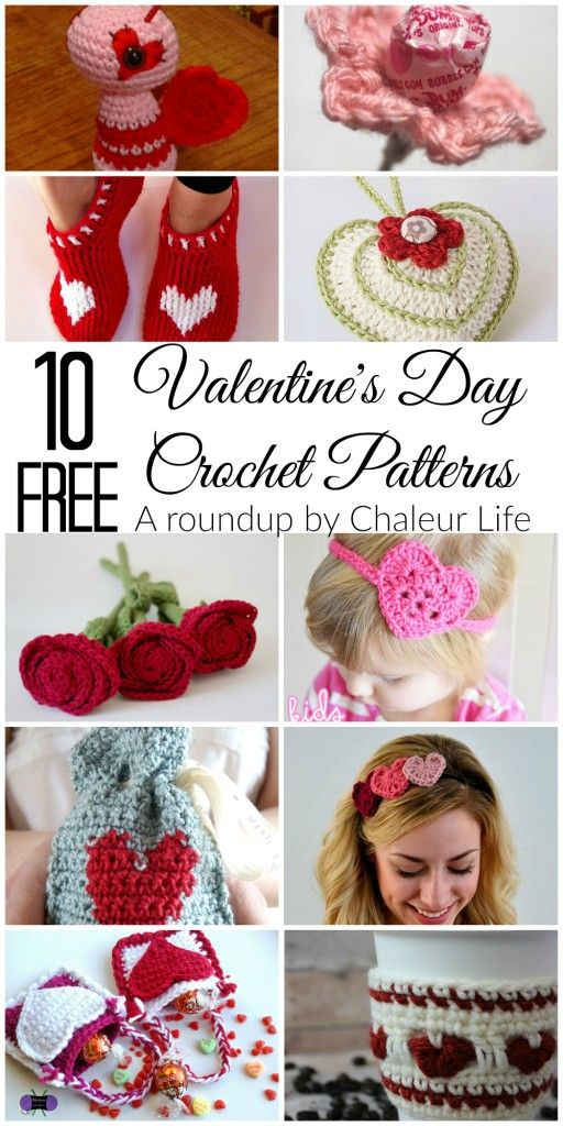 10 Free Valentine\'s Day Crochet Patterns   valentines   Pinterest ...