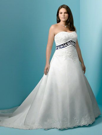 Alfred Angelo Plus Size Bridal - 1708W | Colored wedding ...