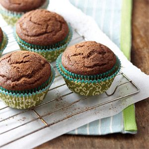 Java Cupcakes -- Using a light coffee drizzle in place of frosting adds flavor and moistness to this carb-trimmed cake #recipe yet keeps the fat and calories in check.