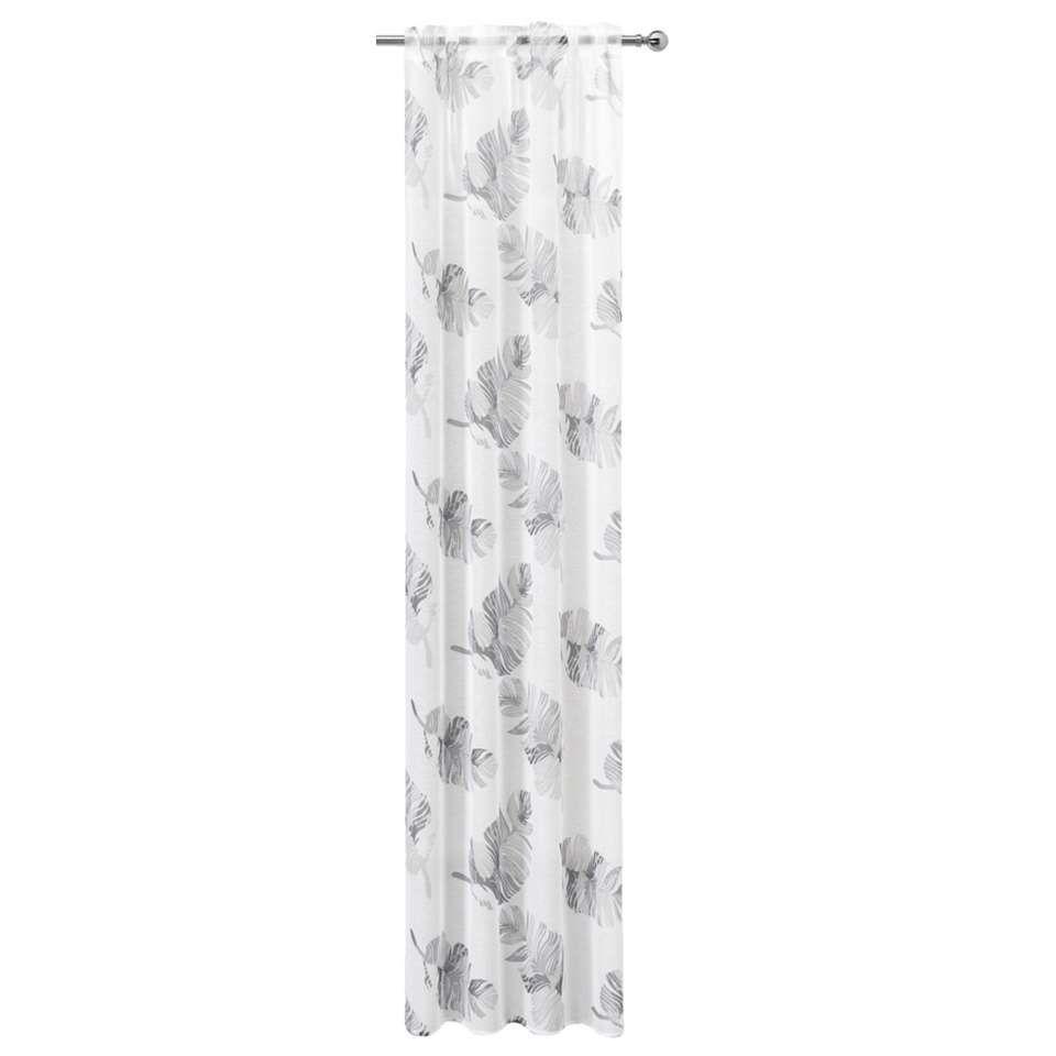 gordijn kyra off white grijs 280x135 cm leen bakker