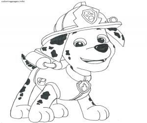 Paw Patrol Marshall Coloring Pages | Paw patrol coloring ...