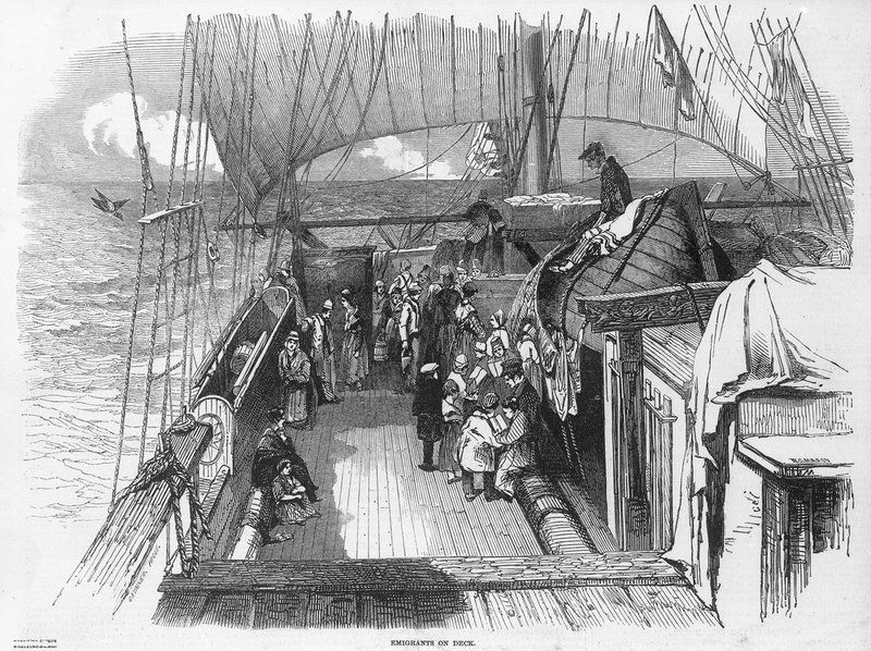 Emigrants on deck - unknown - Royal Museums Greenwich Prints ...