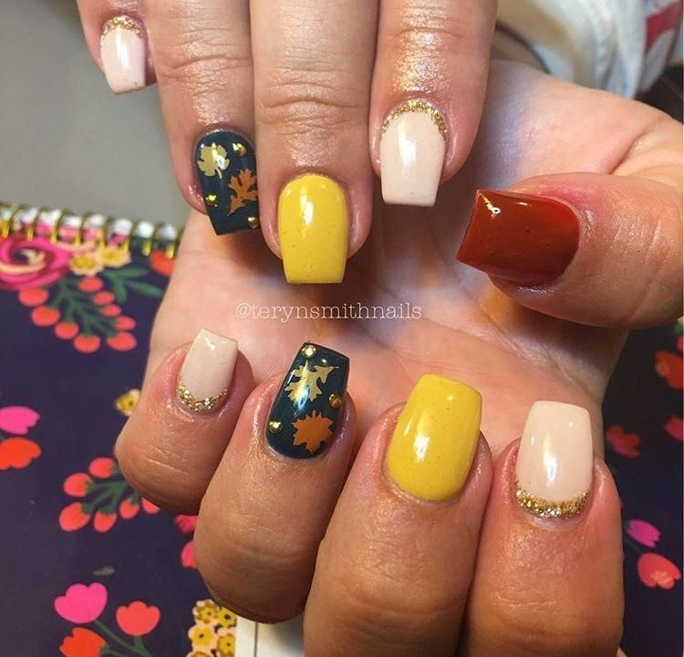 Light Brown | Fall Leaves Nail Decal | Pinterest | Nail decals ...