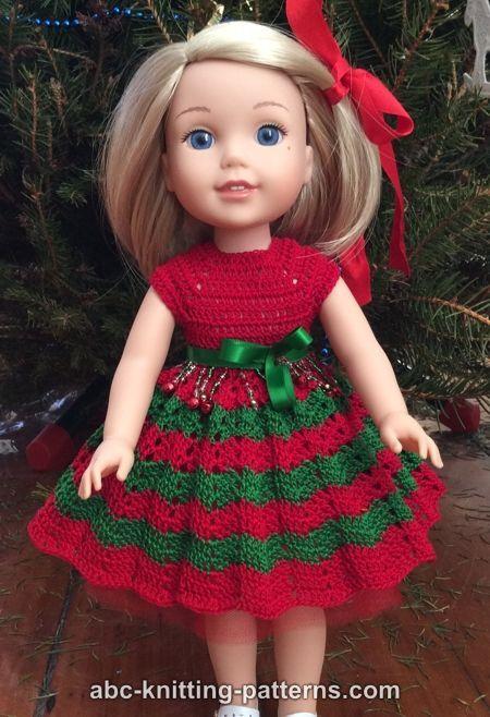 Abc Knitting Patterns Wellie Wishers Chevron Summer Dress Doll