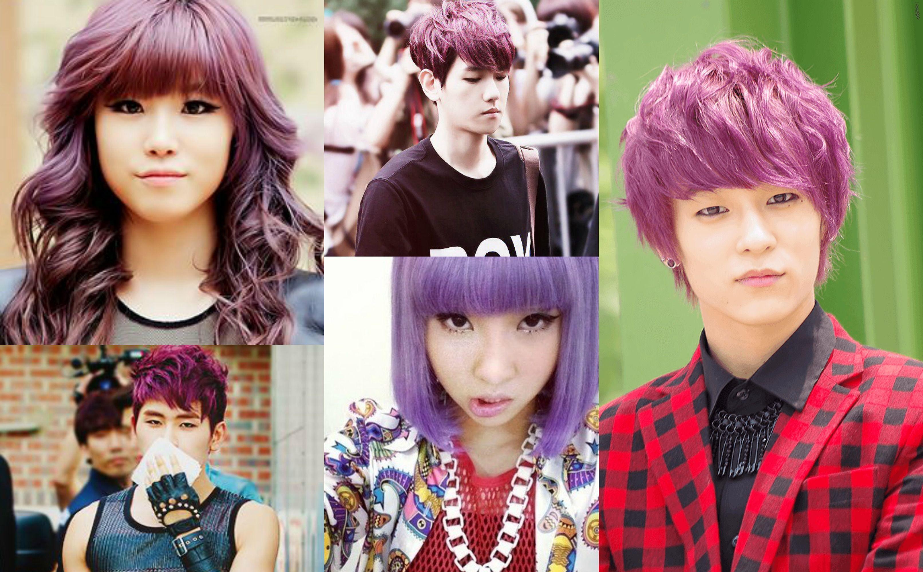 7 Vibrant K Pop Idol Hair Colors That Create A Beautiful Rainbow Hair Color Bright Hair Colors Bright Hair