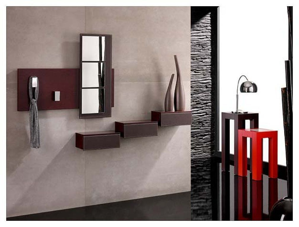 Recibidores modernos recibidor moderno decorar tu casa for Espejos decorativos dormitorio