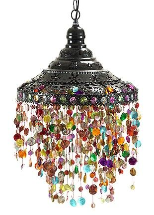 Gypsy Bohemian Chandelier Beaded Light From Turkish Delight Exotic Decor
