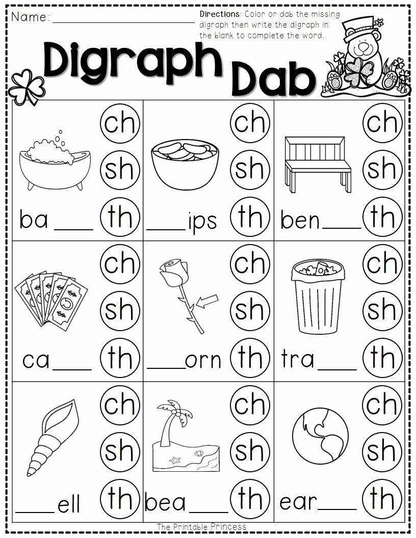 Blend Worksheets 1st Grade Inspirational Worksheet St Patricks Day Math And Literacy No In 2020 Digraphs Worksheets Phonics Worksheets Kindergarten Phonics Worksheets