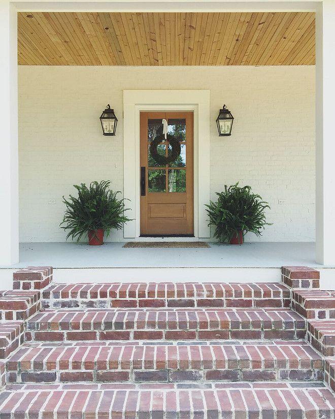 Brick Stoop Home Design Ideas Pictures Remodel And Decor: Farmhouse Brick Porch Steps. Farmhouse Brick Porch Step