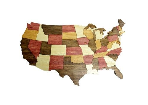 United States of America Puzzle | berkshirebowls - Toys on ArtFire