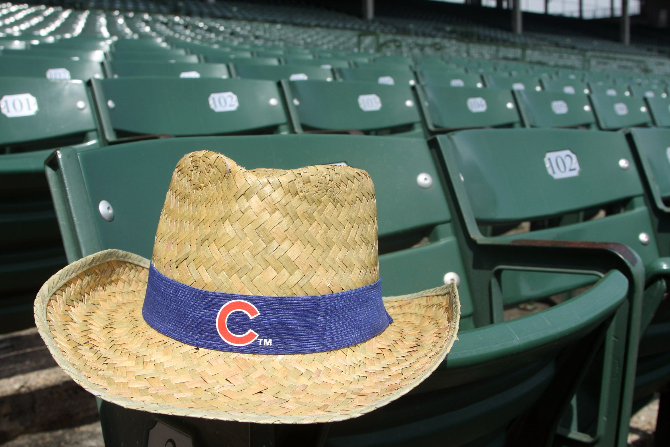 Cubs Cowboy Hat presented by Budweiser available July 12 at Wrigley Field. 48fb8892e61