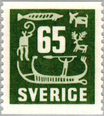 Znaczek: Rock Carvings (Szwecja) (Rock Carvings) Mi:SE 398,Sn:SE 470,Yt:SE 391