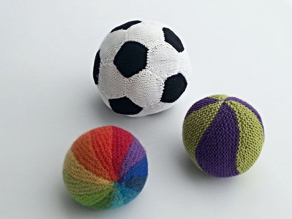 Knitting Pattern Knitted Balls Rainbow Ball Soccer Ball Marble