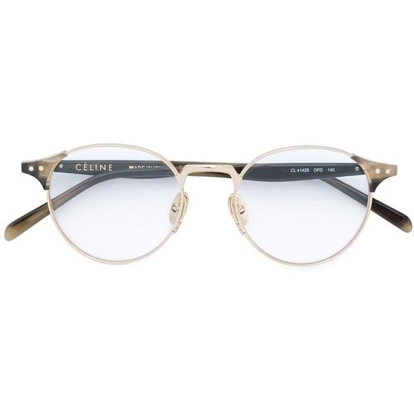 fbc43c96b7 Céline Eyewear round optical glasses ( 495) ❤ liked on Polyvore featuring  accessories