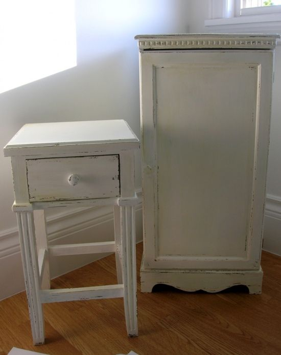 How to distress furniture with paint.