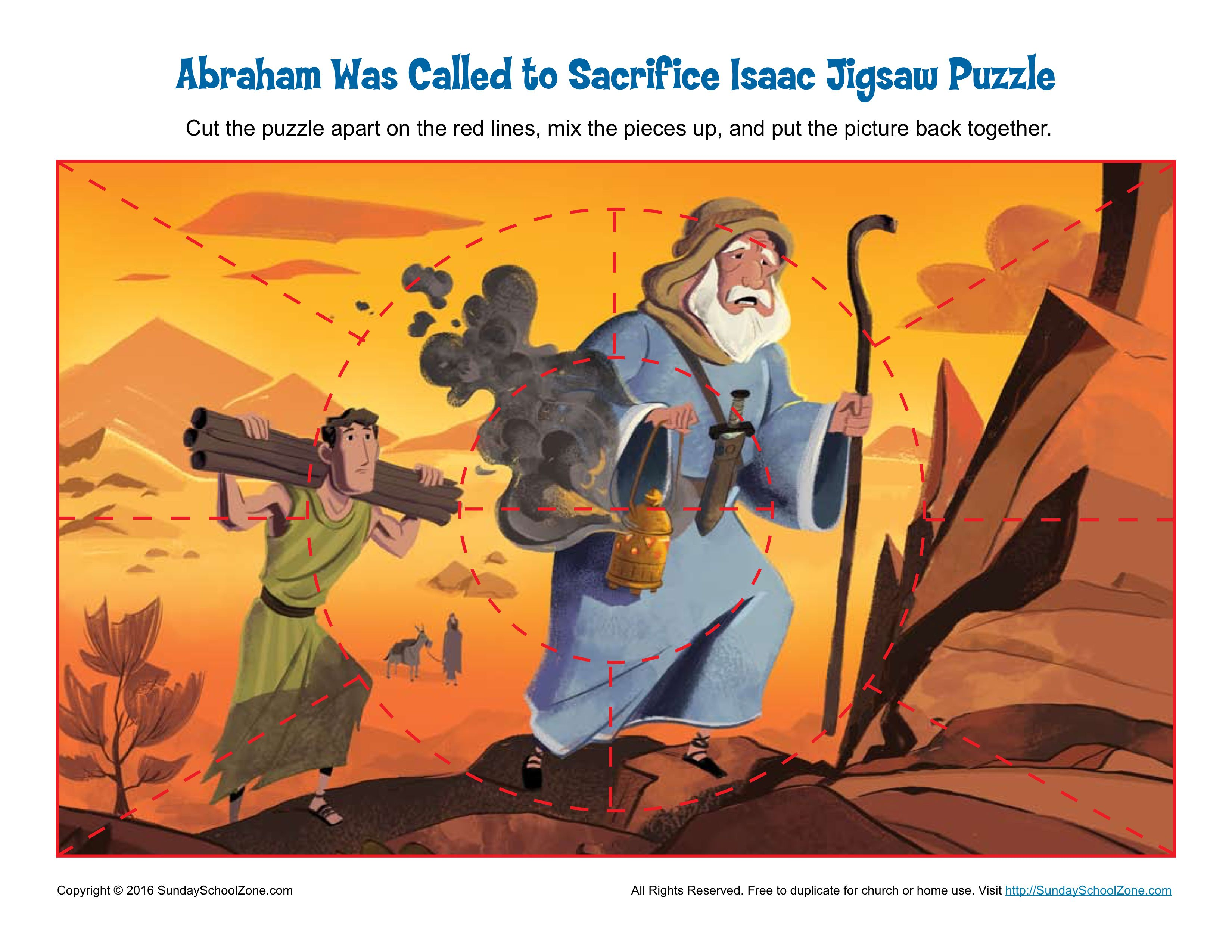 Abraham Was Called To Sacrifice Isaac Jigsaw Puzzle