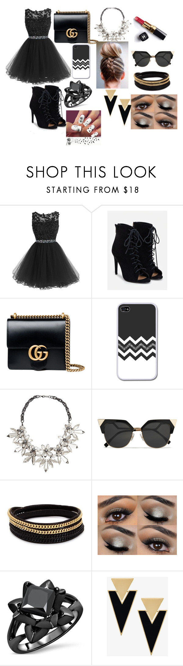 """Untitled #91"" by bosniamode ❤ liked on Polyvore featuring JustFab, Gucci, John Lewis, Chanel, Fendi, Vita Fede and Yves Saint Laurent"