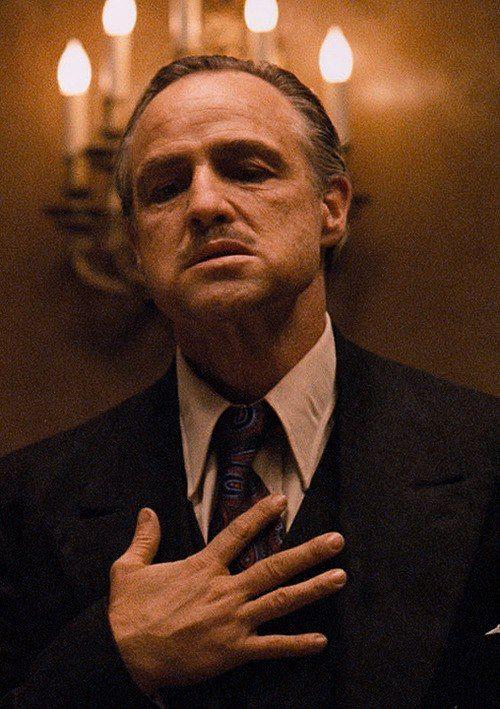 The Godfather 1972 Marlon Brando The Godfather Marlon Brando The Godfather Godfather Movie