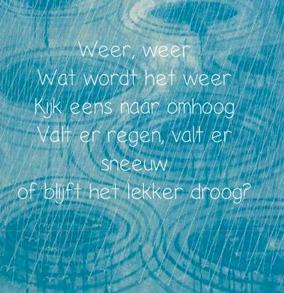 Het weer: lied