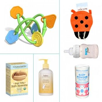 Greenbox Market - Baby Pack  The ultimate baby pack. Get all the items below together - and get a discount with this pack!  Earth Mama Angel Baby Bath Blossom - 2.7 oz Green Toys Twist Teether Bornfree Natural Feeding Classic Bottle - Slow Flow - 5 oz Earth Mama Angel Baby Lotion Vanilla Orange - 4 fl oz Little Twig Lady Bug Bath Mitt - 1 Sponge Country Comfort Baby Powder - 3 oz