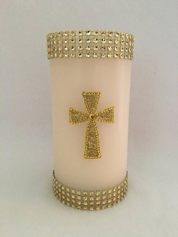 Cross Candle Christian Candle Easter Candles Christian Gifts