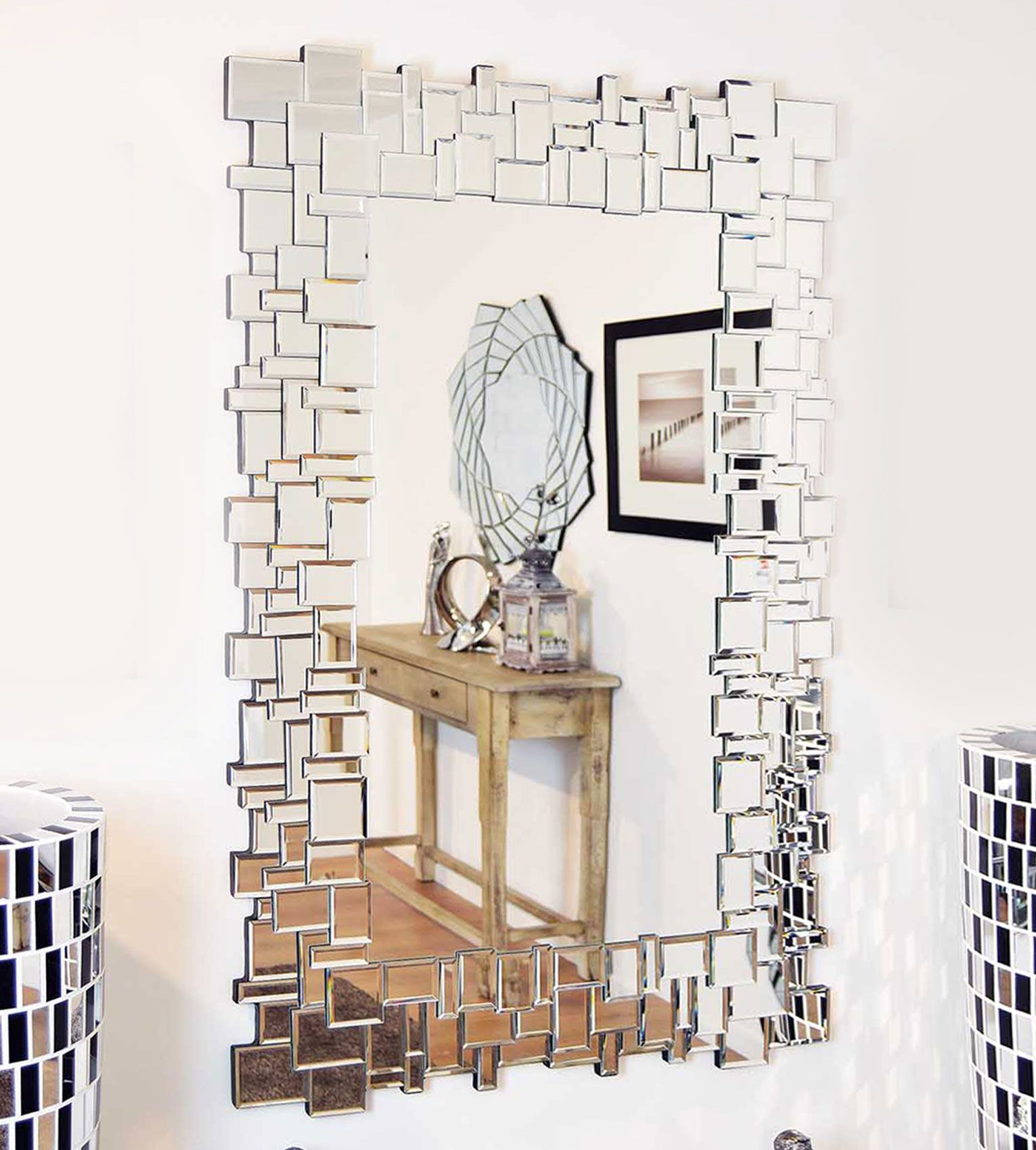 Want A Mirror With A Fresh Modern Look? Why Not Try This New Silver Multi