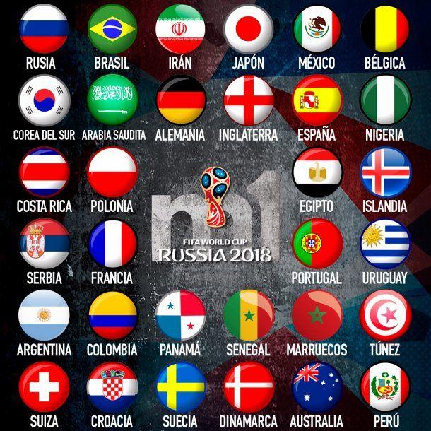 Equipos Que Participaran En Las Fases De Grupos Del Mundial De