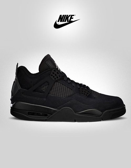 36d216572b6c shoe-pornn: Nike Air Jordan Retro 4-Black Cat. | Shoe Galore in 2019 ...