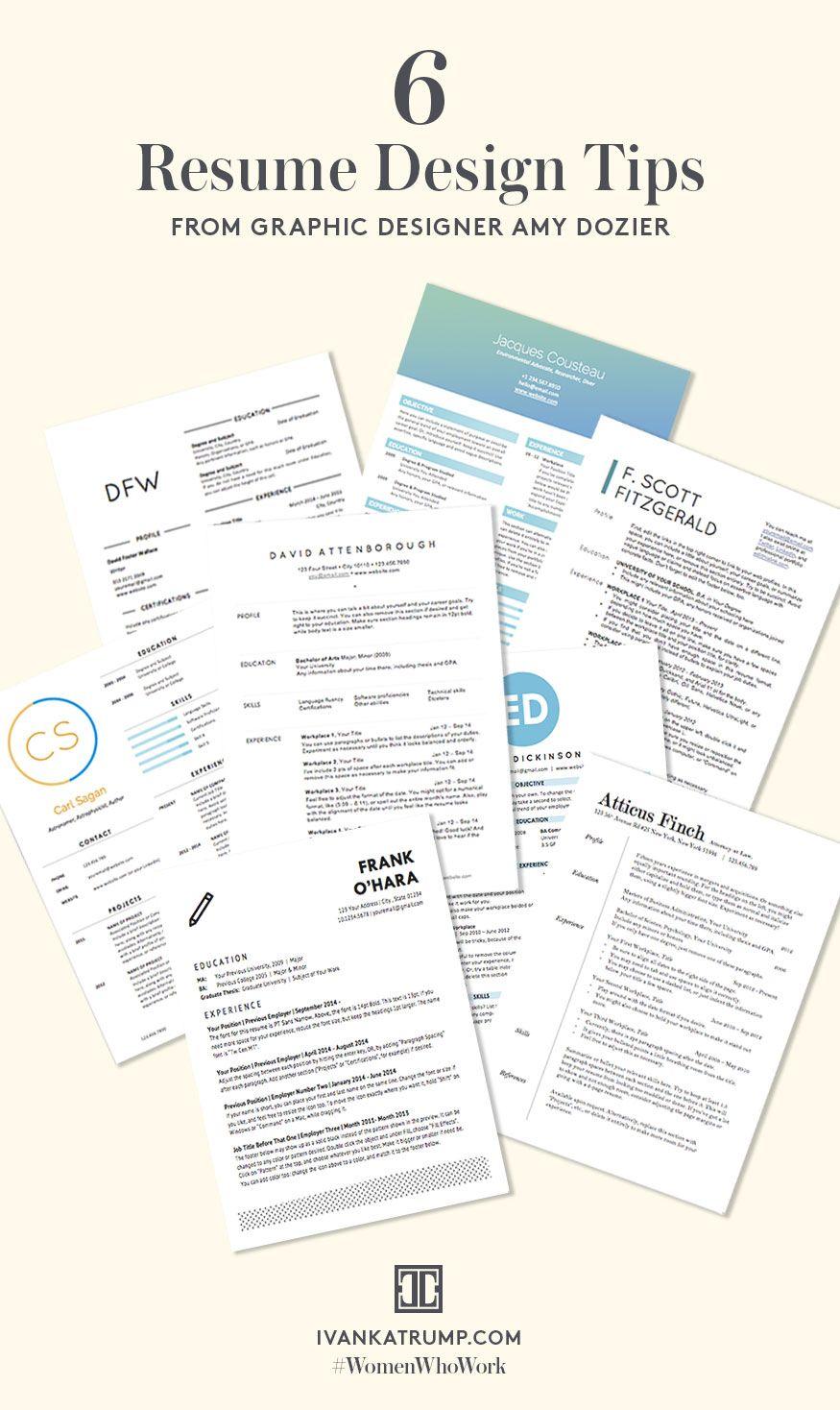6 Resume Design Tips