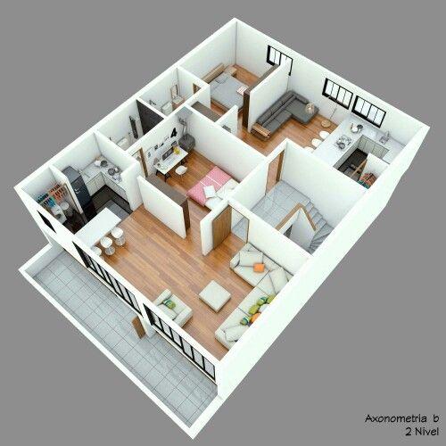 visualización Casa Chapinero realizada para Xigarca SAS Modelo en
