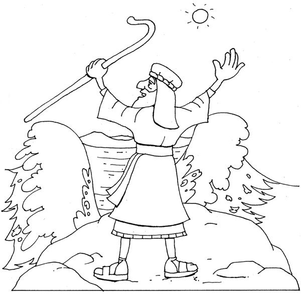 Coloring Pages - Moses at the Red Sea | crafts | Pinterest