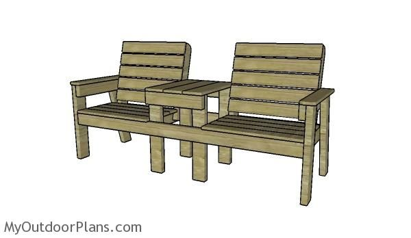 Amazing Large Double Chair Bench Plans Myoutdoorplans Free Caraccident5 Cool Chair Designs And Ideas Caraccident5Info