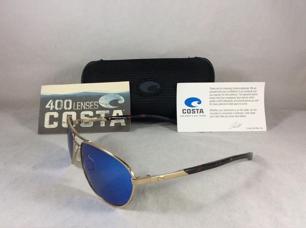 28e55aa05b2bf Costa Del Mar KC 64 Gold and Tortoise Polarized Blue 400G Lenses Sunglasses.  SOLD