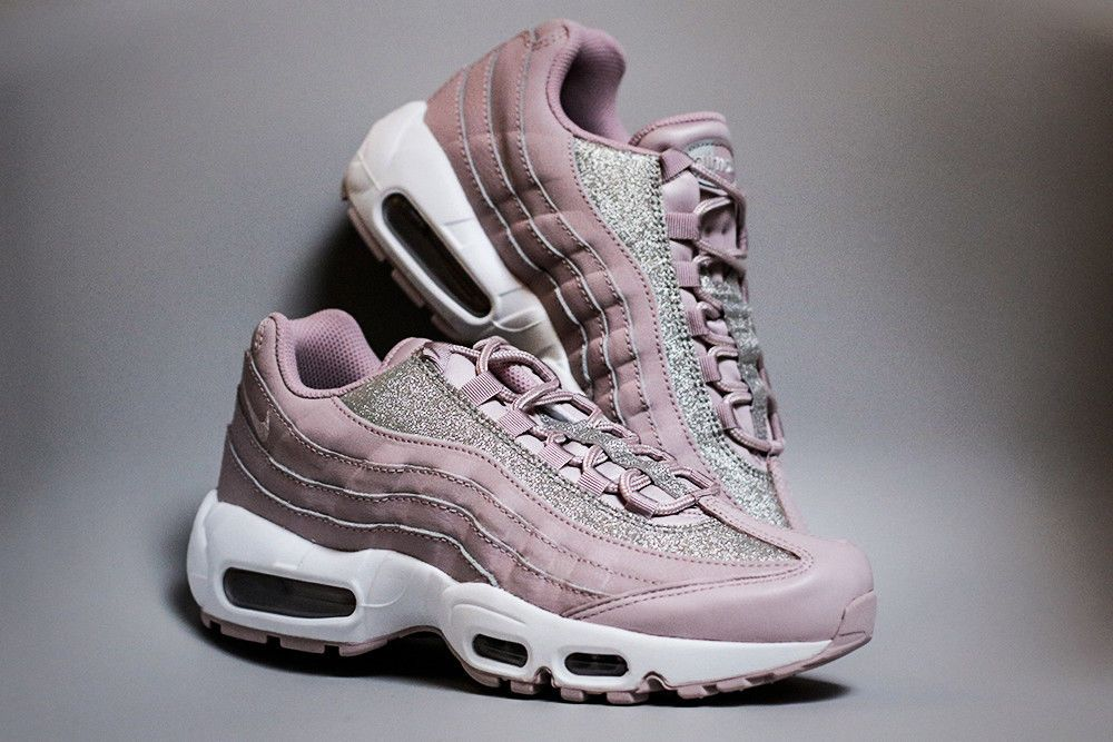 cadbad1b26d9b Nike Air Max 95 SE | Rose/Platinum/White | Womens Trainers [AT0068 ...