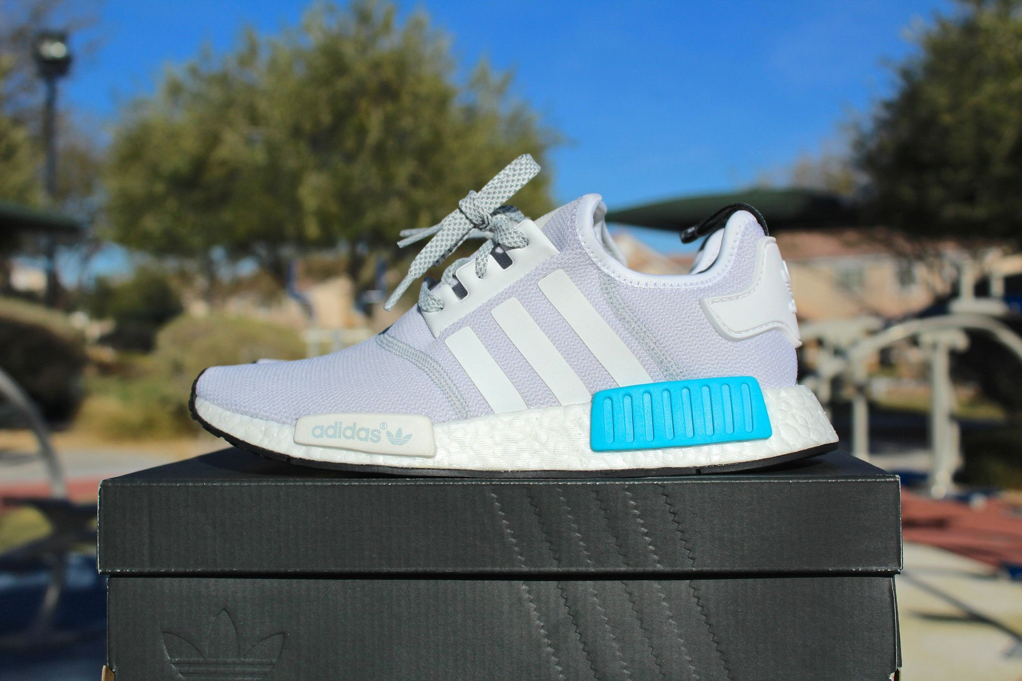 need boost we got you get your feet into these cyan blue nmd s