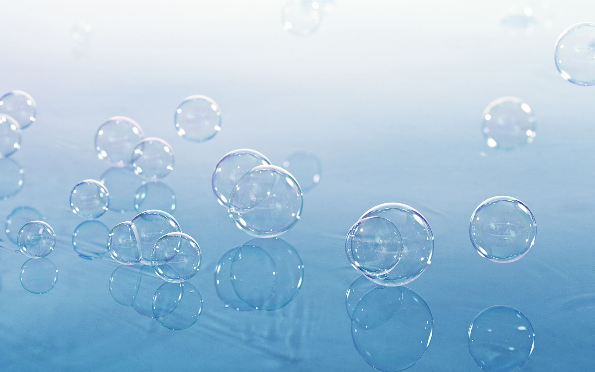 bubbles floating