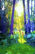 Nature Painted Landscape by Edna Wallen