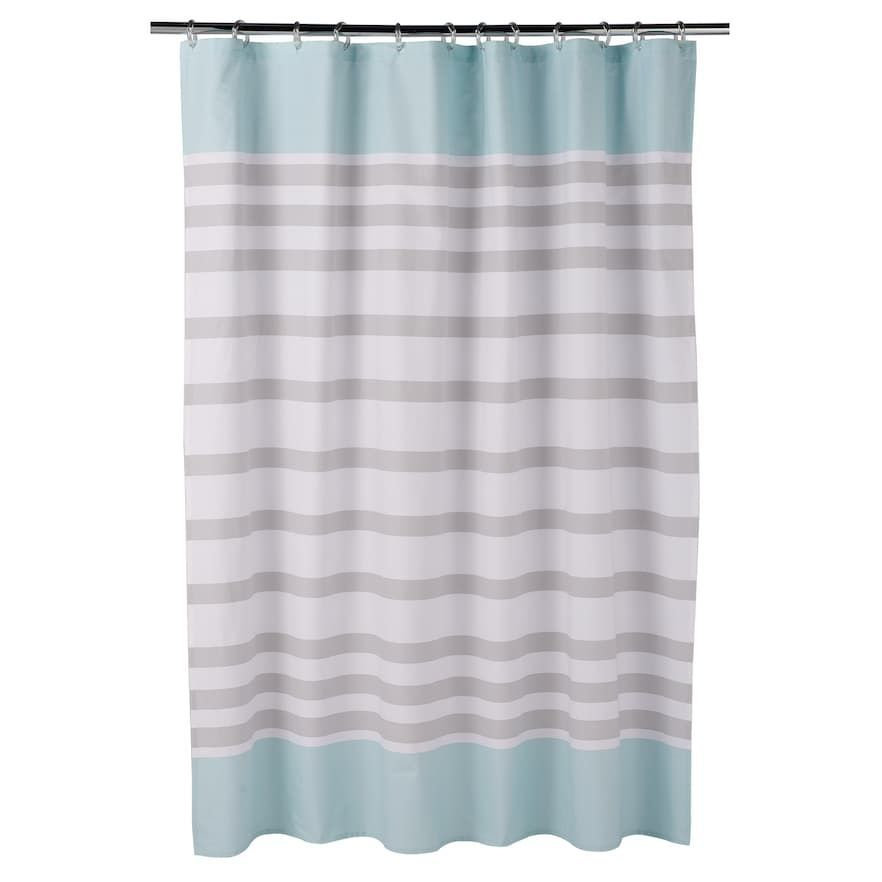 teal striped shower curtain. One Home Kitty Cat Stripe Shower Curtain  Striped shower curtains