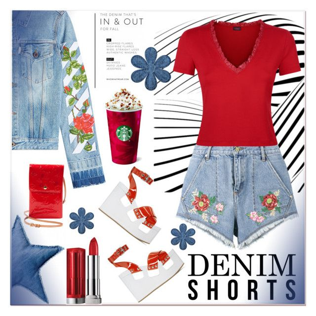 """""""Summer Staple: Denim Cutoffs"""" by zouus ❤ liked on Polyvore featuring House of Holland, Miu Miu, Bloomingville, Off-White, Louis Vuitton, DENIMCUTOFFS, polyvoreeditorial, polyvorecontest and polyvorefashion"""