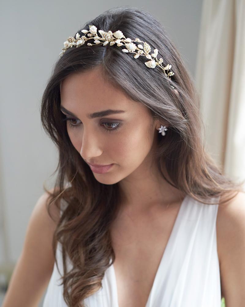 meadow pearl hair vine   bridal hair vines in 2019   bridal